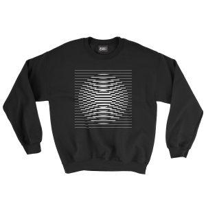 felpa-nera-vasarely-black-sweatshirt-stampa-grafica-bianca-graphic-print-white