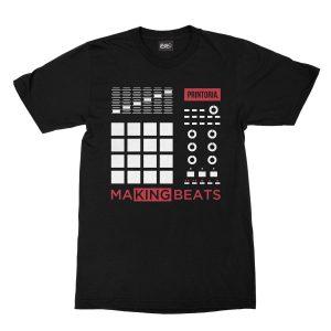 maglietta-nera-making-beats-t-shirt-stampa-grafica-bianca-rossa-graphic-print-white-red