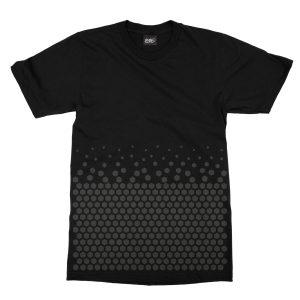 maglietta-nera-pattern-hexagon-black-t-shirt-stampa-grafica-nera-graphic-print-black